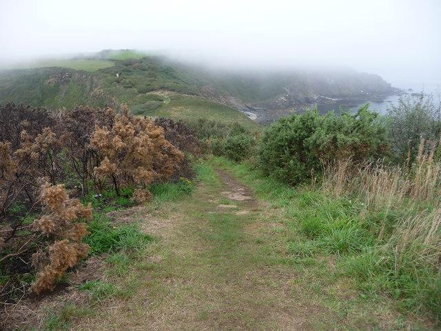The coast path on Black Head