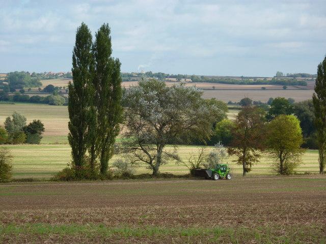 Green tractor near Eakring
