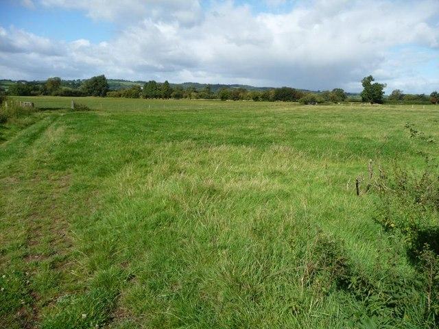 Usk valley farmland