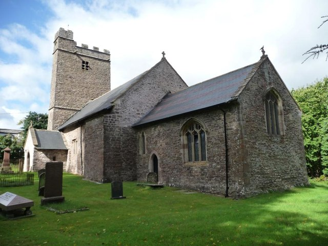 Llantrisant church, from the east