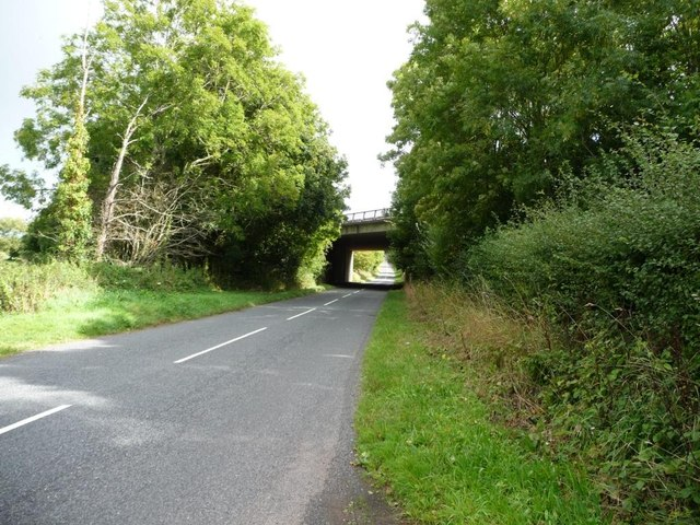 Bridge carrying the A449 over an older road