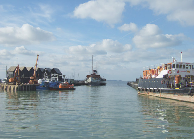 PS Waverley docked at Whitstable harbour