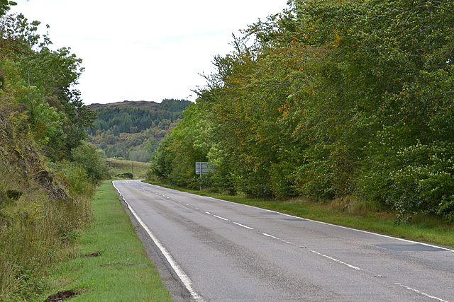 The A87 heading west from Dornie