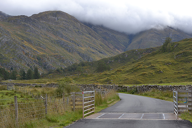Cattle grid near Shiel Bridge