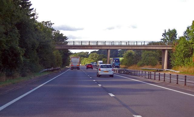 A449 footbridge south of Llandenny