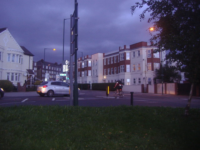 The end of Chamberlayne Road, Willesden