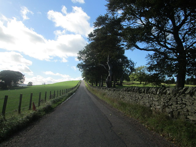 The road to Crossridge Farm