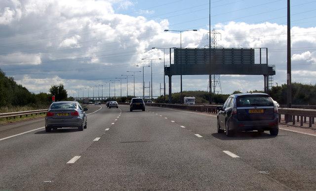 M4 towards the Severn Bridge