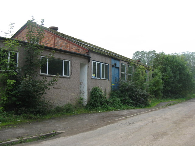 Disused industrial building in the Wye Valley