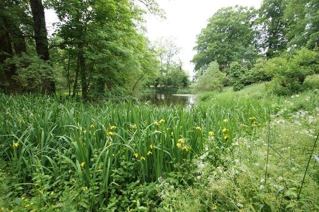 The grounds of Minster Lovell Hall, Minster Lovell