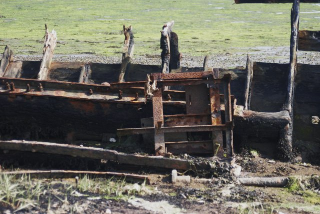 Section of MFV 'Lauren''s hull after damage, June 2012