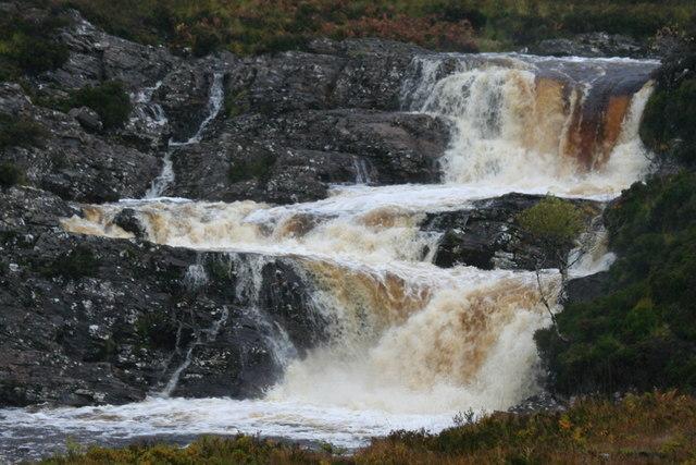 A Highland river in full spate