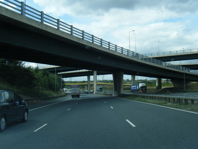 M62 at Holmfield Interchange