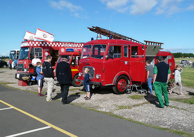 Vintage fire engines at East Fortune