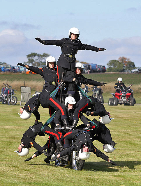 The White Helmets motor cycle display team at East Fortune