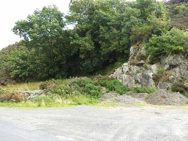 Old roadside quarry