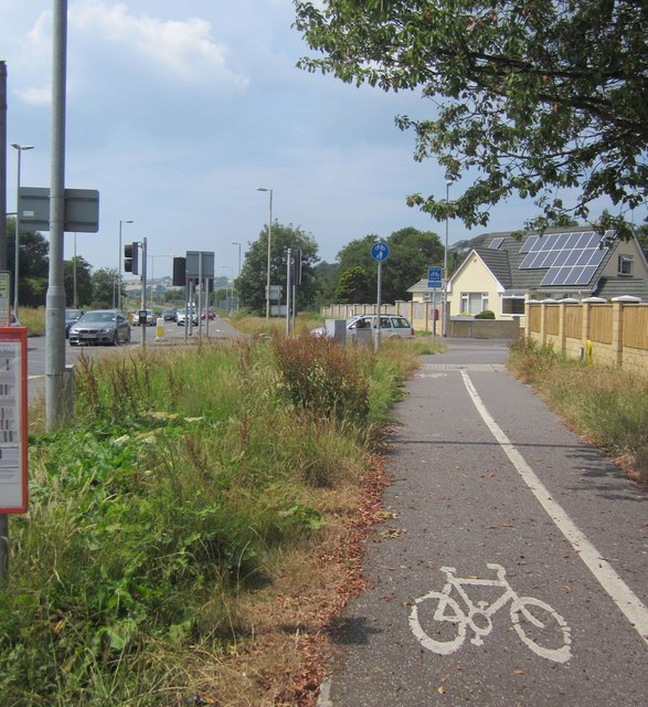 Cycle path by the A361