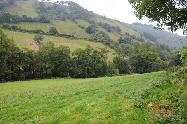 View across the Dovey valley