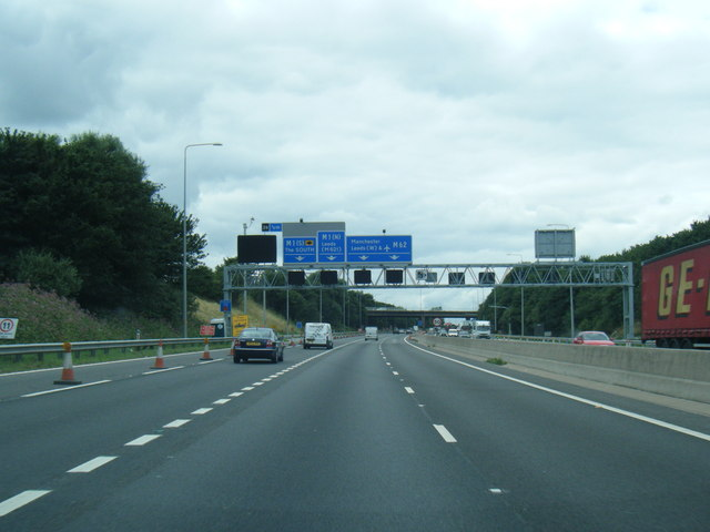 M62 westbound at Lofthouse