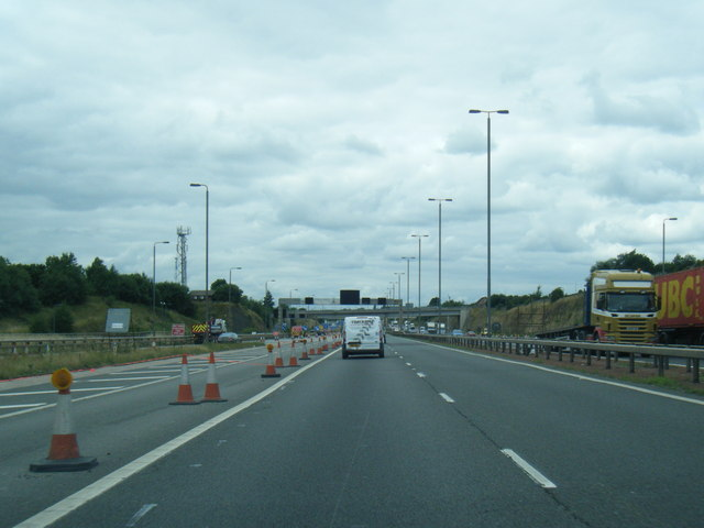 M62 westbound at Junction 29