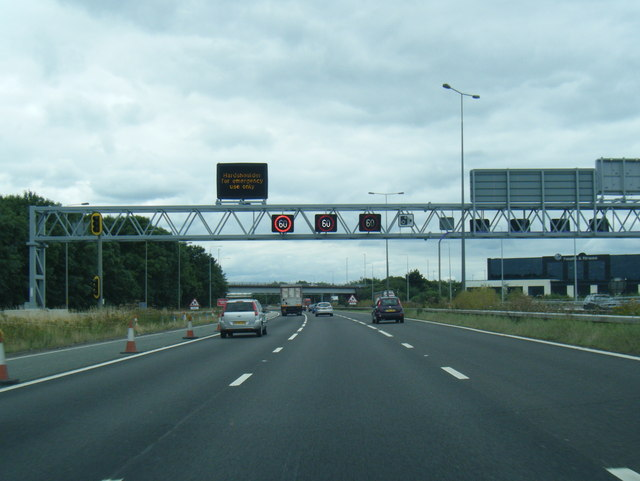 M62 westbound at Tingley Common