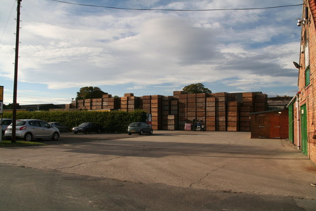 Pallets in a yard at Butterwick