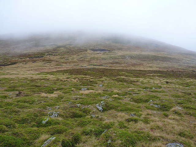 To the bealach from the southeast
