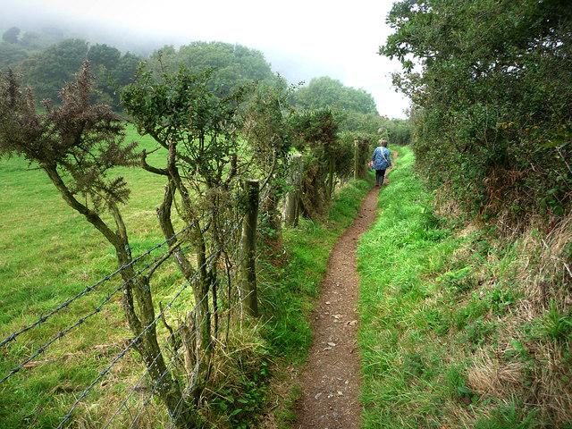 The coast path above Gerrans Point