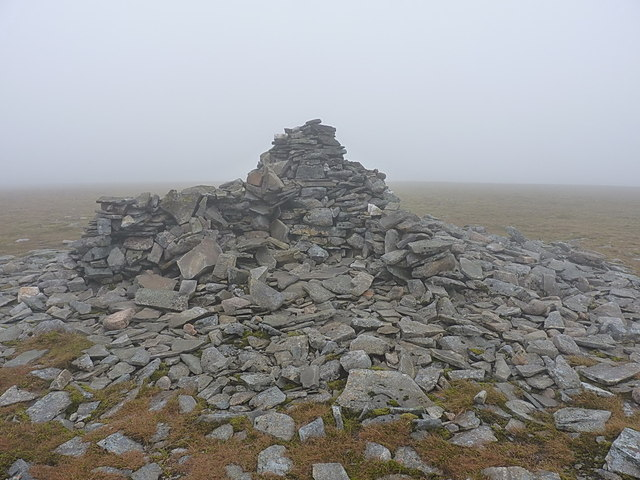 The summit cairn, An Sgarsoch