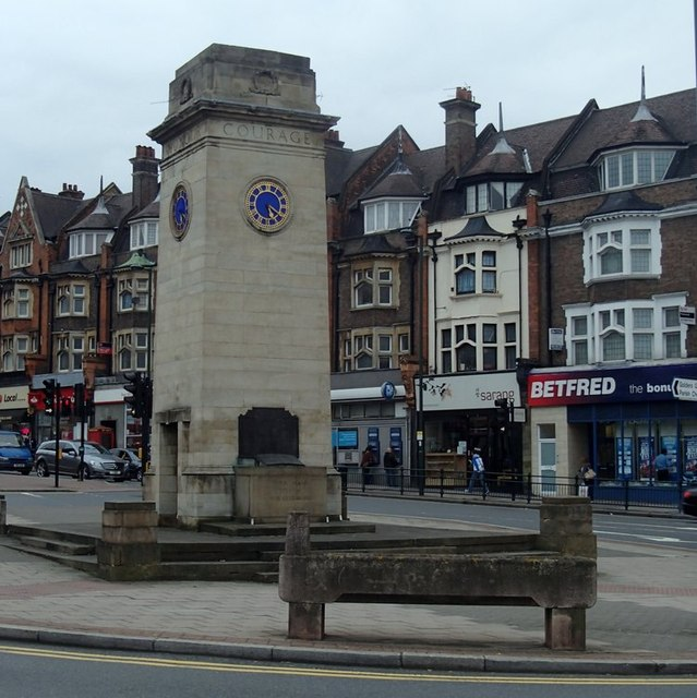 War memorial and shops, Golders Green