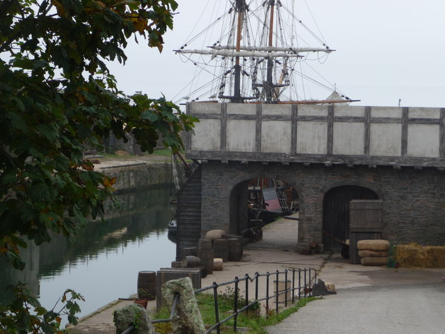 Charlestown Harbour as a film set