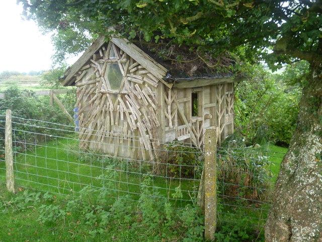 Unusual summerhouse at Aldington