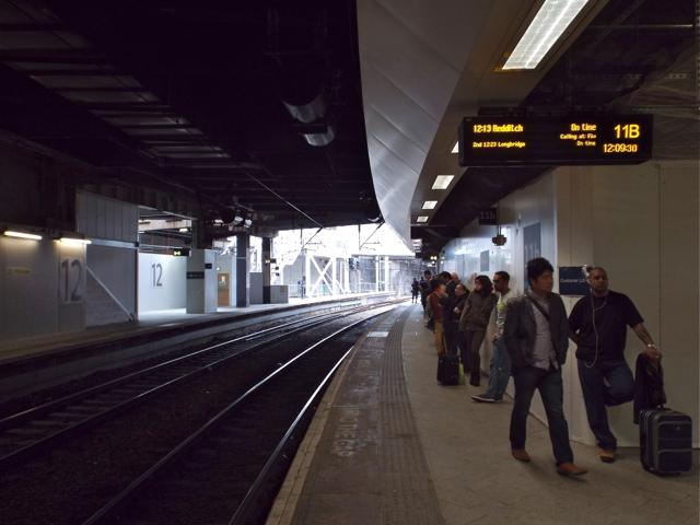 Platform 11B, New Street station, looking west
