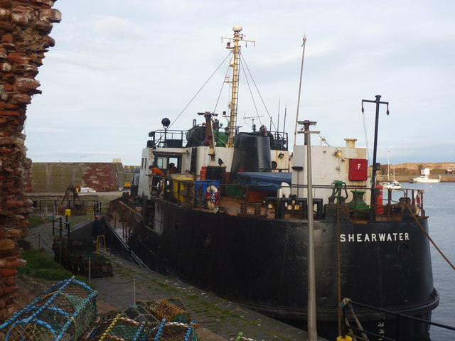 Coastal East Lothian : MV Shearwater At Dunbar