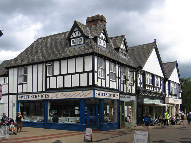 Northwich - shops at junction of Witton Street and Tabley Street