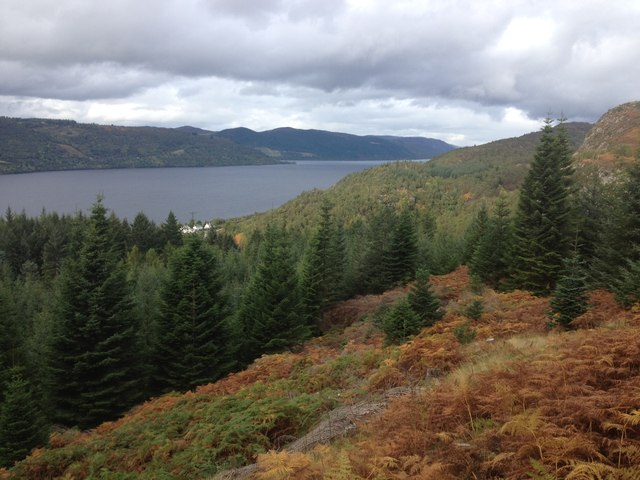 View to Loch Ness from Farigaig Forest