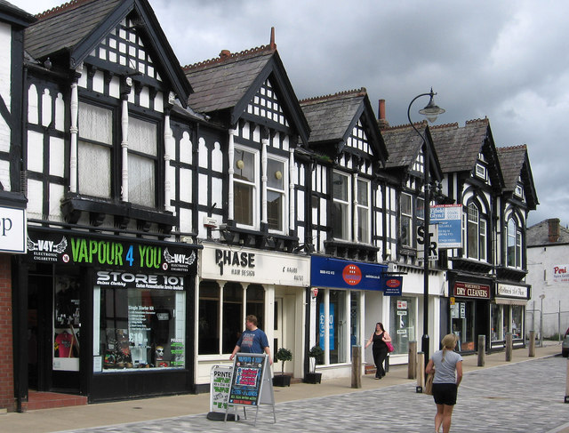 Northwich - shops opposite Meadow Street junction with Witton Street
