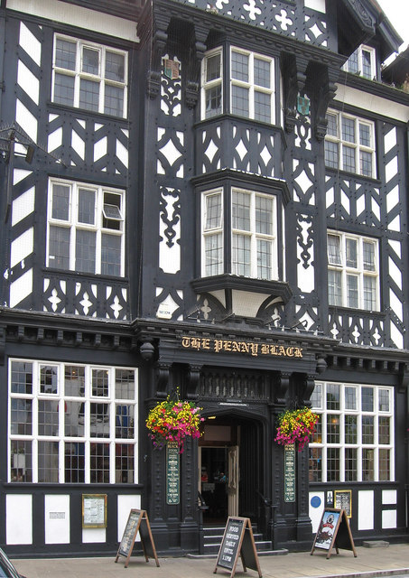 Northwich - The Penny Black - entrance - portrait view