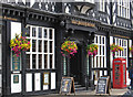 SJ6674 : Northwich - The Penny Black - entrance - landscape view by Dave Bevis