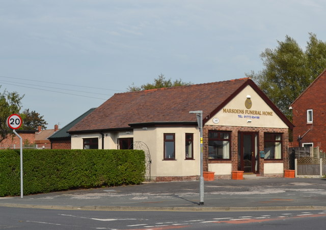 Marsdens Funeral Home, Lytham Road, Warton
