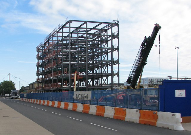More steelwork by the station
