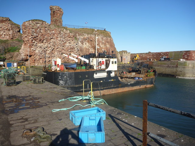 Coastal East Lothian : Blue Boxes At Victoria Harbour, Dunbar