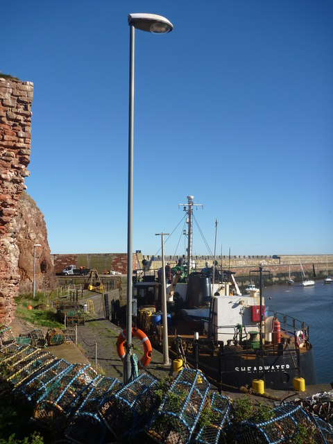 East Lothian Townscape ; Lamp-post At Victoria Harbour, Dunbar