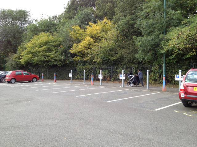 Recharging points for electric cars, Park&Ride South car park