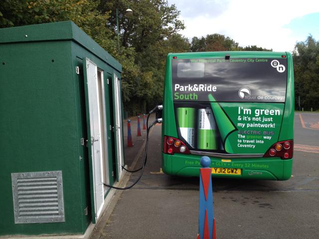 Electric bus recharging bay, Park&Ride South terminus