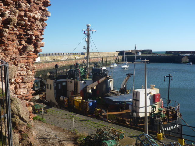 Coastal East Lothian : MV Shearwater In The Visitor's Berth At Victoria Harbour, Dunbar