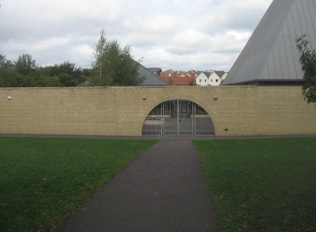 Entrance to church garden
