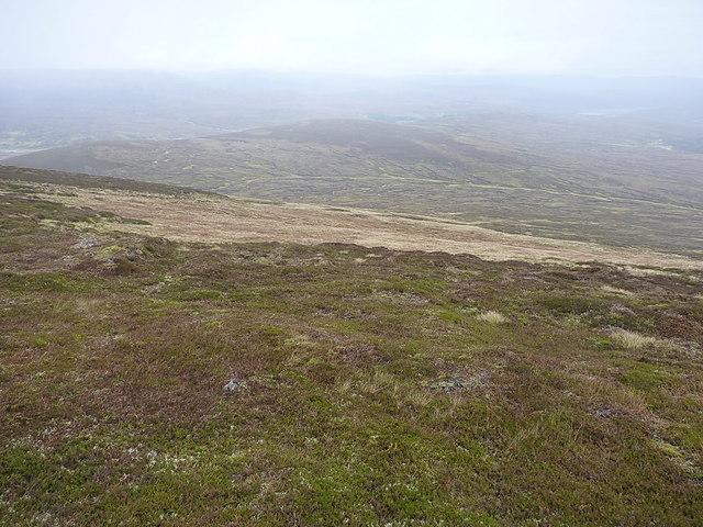 Downhill on the east side of Druim Sgarsoch