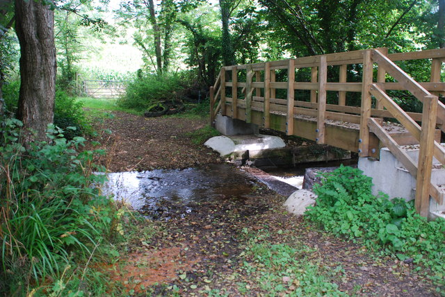 Ford and New Footbridge at Synderborough Farm