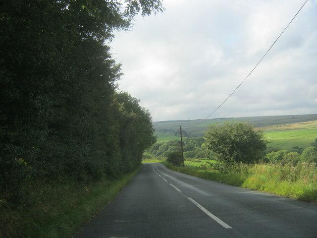 Healeyfield Lane towards Waskerley